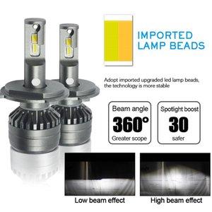 1 세트 * 자동차 LED 헤드 라이트 전구 72W 8000LM H4 LED 헤드 라이트 H7 H4 5202 H13 V70 세 가지 색상