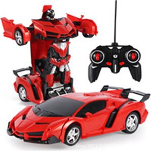 Damage Refund 2In1 RC Car Sports Car Transformation Robots Models Remote Control Deformation RC fighting toy Children's GiFT