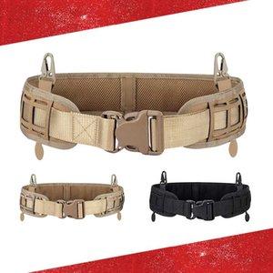 1000D nylon táctico Cinturón de Formación caza al aire libre de senderismo Cinturones Negro Cinturón de hombres de los deportes al aire libre de la cintura del equipo