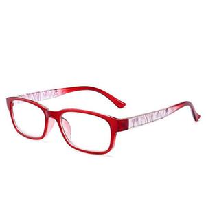 Yaşlı Ultralight PC Çerçeve Büyüteç Gözlükler Siyah İçin Reçine Lens Kare Okuyucu Gözlük / Kırmızı / Mavi / +4.0 için Mor Kare 1,0