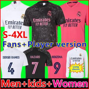 REAL MADRID camisas 20 21 camisa de futebol HAZARD SERGIO RAMOS BENZEMA VINICIUS camiseta camisa de futebol uniformes homens + crianças kit 2020 2021
