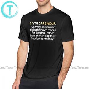 Предприниматель T Shirt Лучший предприниматель Котировки - предприниматель T-Shirt Бич Graphic Tee Shirt Крупногабаритные Хлопок Funny Man Tshirt