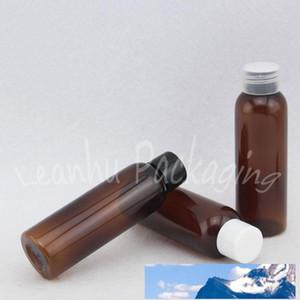 Garrafa 60ml Brown Rodada Plastic Com Screw Cap, 60cc de água / Toner / Lotion Garrafa, Esvaziar recipiente cosmético 50 PC