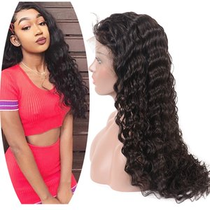 Deep Wave Brazilian Human Hair Full Lace Curly Wig For Women Remy Virgin Indian Peruvian Wig Caps