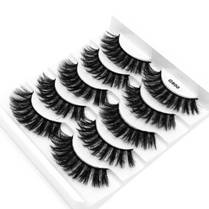 3D Otter Hair 5 Pairs of Thick and Thick Eyelashes Natural Nude Eyelashes Beauty Tool