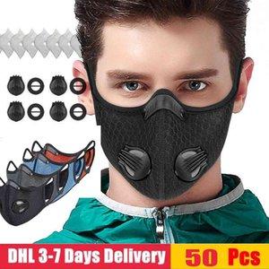 Schablone US Radfahren Gesicht Staubdichtes Mesh-Mundmasken Schutz im Freien Gesichtsmaske 24H Schiff Staubdichtes Atem Respirator Sport PM2.5 Mask