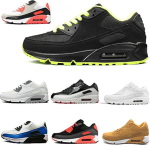Nike Air Max 90 Men Women For Running shoes Triple Black White Pink Blue Grey Black Croc Infrared Mens Fashion Trainer Outdoor Sport Sneaker 36-45