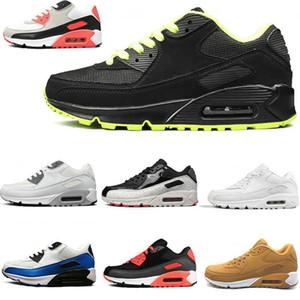 Nike Air Max 90 새로운 도착 CLASSIC 90 Viotech 자체 스포츠 남성 90 년대 화이트 적외선 사우스 비치 트리플 블랙 야외 운동 여성 스니커즈 신발을 실행