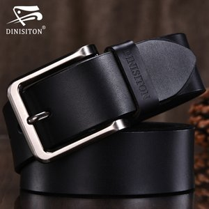cinghia di cuoio genuina DINISITON di alta qualità degli uomini cinghie designer Strap modo di marca fibbia Jeans Casual Male metallo Hombre
