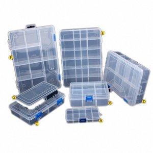 Urijk 1PC 7Size Tuercas Bits células joyería portátil Herramienta envase de la caja del anillo electrónico Taladro Tornillo Cuentas componente de almacenamiento Toolkit BTqo #