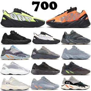 700 v2 Runner 2020 New Kanye West Orange Phosphore os Hommes Femmes carbone bleu sarcelle chaussures de course d'inertie sport statique Vanta hommes Sneakers