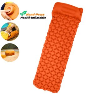Camping Sleeping Pad with Built-in Pump, Upgrade Ultralight Inflatable Camping Mat with Pillow for Hiking Traveling Air Mattress