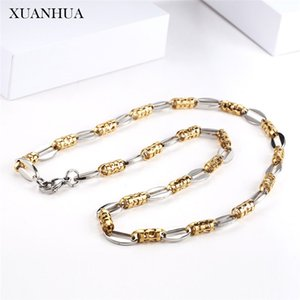XUANHUA Stainless Steel Jewelry Chain Necklace Bracelet Set Fashion Necklaces 2019 Accessories Offers With Free Shipping