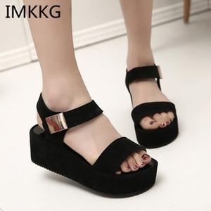 Sandals Women Summer Shoes Woman Wedges Platform Sandals Fashion Fish Mouth Rome White Black Women Shoes A00056 M1pp#