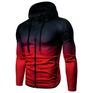 Sweat Zipper Sweat à capuche de sport Fitness TrainingSuit capuche Veste de sport Fitness séchage rapide Homme Veste de running