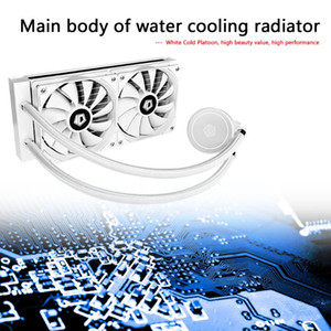 CPU Water Cooler 120mm 4 Pin Practical Classic Texture Multi-functional Quiet Cooling System Fan for LGA 2011 AM3+ AM4