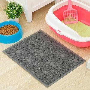 Cojín cuadrado portátil de la camada Mat PVC fácil limpieza mascotas en Espesar perro no Slip patas del gato suave Impreso