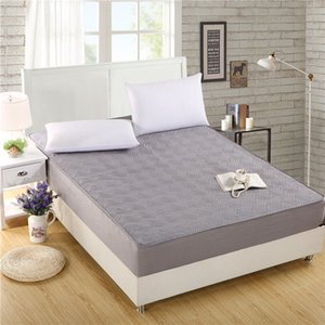 Comwarm Minimalism Solid Color Mattress Cover Bedroom Bed Protector Pad Polyester Fiber Anti-dirty Mattress Topper Fitted Sheet
