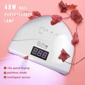 48W LED UV Lamp 30pcs beads Nail Dryer For Curing Quickly Lamp Light Toenail Fingernail Tool 200924