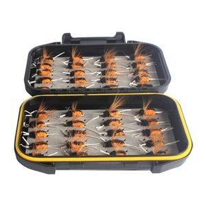 40pcs / lot Pesca Moscas Set Fly Fishing Lure Wet Simulação Insects feita de alta qualidade aço carbono durável para uso