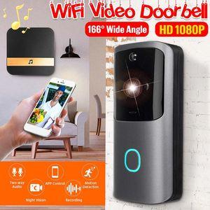 HD 1080P Smart Wireless Дверной камера ночного видения WIFI Видимый IP Intercom домофона для безопасности дома Video Door Bell M10
