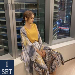 Women Pyjamas Sets Autumn Spring Printed Pajamas Set Viscose Stars Night Suits Home Wear Female Pajamas Sets 4 Pcs New BANNIROU