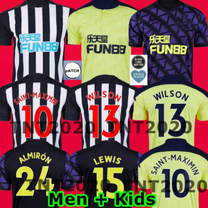 20 21 RITCHIE Saint-Maximin 10 FUSSBALL JERSEYS HOME UNITED JOELINTO 2020 2021 Newcastle LASCELLES Shelvey FOOTBALL YEDLIN Shirts Männer Kinder-Kit