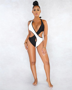 Women Bathing Suit Womens Contrast Color Sling Swimsuit Tight Stitching Hollow Out Summer Bikini Fashion Designer