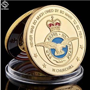 24K مطلية بالذهب ARMY كوين لوكسمبورغ سلاح الجو الملكي جندي متقاعد التحدي العسكري عملة تذكارية