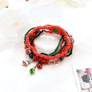 Natural Stone Crystal Bracelets Christmas multilayer bracelet Jewelry Chains For Women Female Bracelets Jewelry Gif Accessories