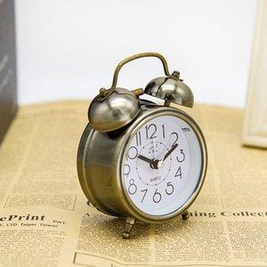 Mini réveil analogique classique vintage non ticking avec rétroéclairage, horloge de voyage à piles, réveil de la cloche à forts pour enfants