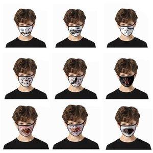 Дизайнер Хэллоуин смешно моды 3D цифровой печати маски, чтобы выйти пыле- и анти-туман, печать льда шелковые моющиеся маски
