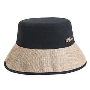 1Pc Bucket Hat Casual Fisherman Hat Unisex Outdoor Sun All-match Sun Protection Cap Portable Summer Block Headwear (Blac