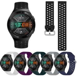 braccialetto di 22 millimetri in silicone traspirante Strap Huawei orologio GT banda 2e per Huawei GT2 46 millimetri cinturino di ricambio Wristband Accessori