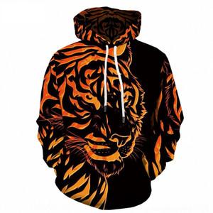 Tiger 0ByXt uomo incappucciato moda casual sport uomini stampati 3D digitale del rivestimento del maglione digitale maglione