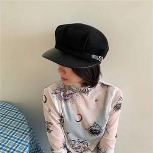 Sombreros de lana octagonales para las tapas ocasionales de las mujeres del sombrero del invierno del otoño señoras de la moda Boinas boina del casquillo del vendedor de periódicos Mujer Gatsby