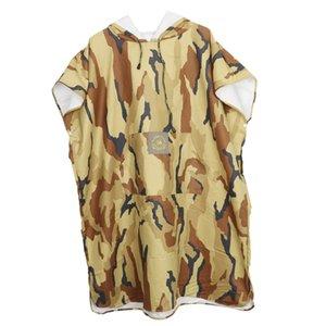 EDTara Камуфляж Купание Robe Wetsuit Изменение Полотенце Пончо Unisex Взрослые