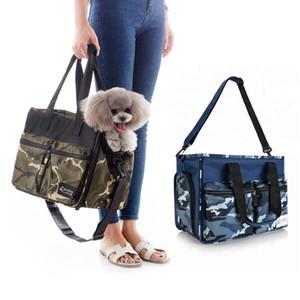 Camouflage Oxford Dog Travel Cage Blue Green Small Medium Animal Pet Handbag Shoulder Slings Cat Car Seat Puppy Carrier For Dog