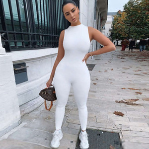 20ss Autumn Women Onesies Jumpsuits High Waist Sleeveless Womens Sport Bodysuit Solid Color Ladies Sexy Tights Rompers