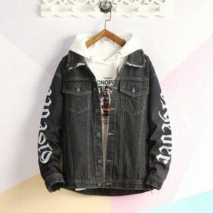 Mens Hip Jeans Herren-Jacken-Mantel Denim Trucker Jacket Wear Resistant Unlined Denim asiatische Größe M 2XL Freund Lederjacke Klar Jacke oHSf #