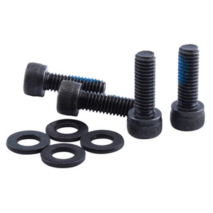 4Pcs Fixed Steel Screws with Washers for MTB Bike Bicycle Disc Brake Bracket Mount Adapter M6 18mm 30mm - Black