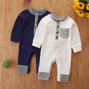 Spring Autumn baby romper cotton baby boy romper long sleeve newborn rompers baby boy clothes Jumpsuit infant boy designer clothes B2085