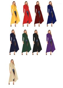 New Casual Women Clothing Fashion Irregularity Stand Collar Trench Coat Spring Zipper Long Sleeve Designer Coats