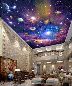 3d ceiling murals wallpaper custom photo non-woven mural Colorful sky universe painting 3d wall murals wallpaper for walls 3 d