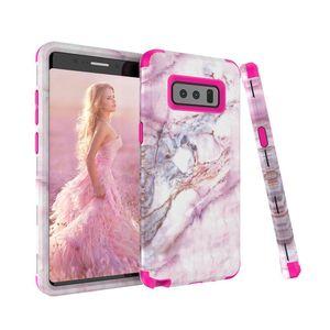 Для Samaung Примечание 8 Case Marble Defender Case Heavy Duty Hybrid Полная -Боди Защитная крышка телефона Чехлы для Samsung Galaxy Note 8