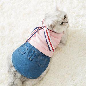 Pullover Seidenschal Jeansrock Anzug Haustier Katze Hund Kleidung Weihnachten Ostern Kleidung PET-Anlagen bequemer Stoff nett Anzug