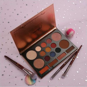 17 Colors Eye Shadow Foundation Makeup Set Rose Eyeshadow Pearlescent MaPalette Shimmer Make Up Cosmetics Shadows Waterproof