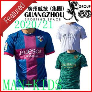20 21 SD Huesca Fußball Jerseys zu Hause weg KIDS 2021 2020 camiseta de fútbol Insua # 10 Cristo Okazaki Sergio Gómez RABA AD Fußballhemden xxl