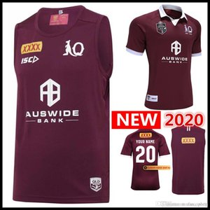 2020 MAROONS singlet Rugby Jersey Australia QLD Maroons vest rugby Jerseys Holden STATEOF ORIGIN League shirt Custom name and number