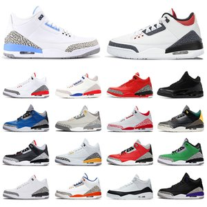 nike air jordon 3 retro jordans 3s jumpman hombre fragmento los zapatos de baloncesto de III UNC Knicks rivales varsity hombres reales deportivas zapatillas de deporte para mujer